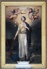 Cathédrale Notre-Dame de l'Assomption - English:  Montauban Cathedral, Tarn et Garonne, France -  Oil on canvas:  The Coronation of St. Philomena  - by Jules Jolivet
