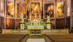 Eglise Saint-Jacques - English: Interior of the Saint James church of Montauban, Tarn-et-Garonne, France