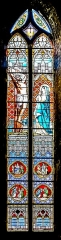 Eglise Saint-Jacques - English: Stained-glass window of the Saint James church of Montauban, Tarn-et-Garonne, France