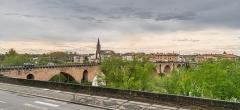 Ancien pont - English: Pont Vieux in Montauban, Tarn-et-Garonne, France