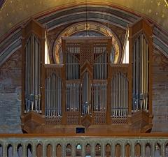 Eglise Notre-Dame de la Visitation - English:  Montech Tarn-et-Garonne, France - Our Lady of the Visitation Church - Gallery organ.