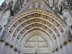 Cathédrale Saint-Etienne - Façade occidentale de la cathédrale Saint-Étienne de Bourges (Cher, France)