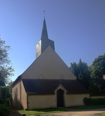 Eglise Saint-Aignan - English: Church Brinay (18)