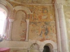 Eglise Saint-Martin - Français:   Chalivoy-Milon, détail de l\'abside: lavement des pieds et baiser de Judas