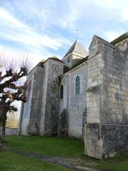 Abbaye Saint-Martin de Plaimpied - Français:   mur nord