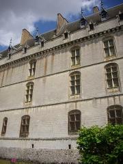 Château et ses abords - Aile Dunois du château de Châteaudun (Eure-et-Loir, France), côté ouest