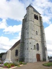 Eglise Saint-Germain - Deutsch: Katholische Kirche Saint-Germain in Hanches im Département Eure-et-Loir (Centre-Val de Loire/Frankreich), Glockenturm aus dem 15. Jahrhundert