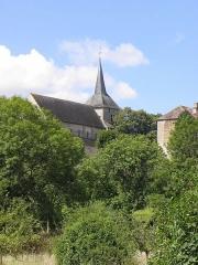 Prieuré Saint-Benoît - Extérieur de l'église prieurale de Saint-Benoît-du-Sault (36). Flanc nord.
