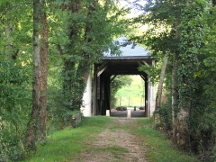 Pont couvert en bois - Français:   Pont couvert en bois