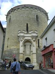 Château - Deutsch: Schloss Amboise, Heurtault-Turm von der Stadt aus gesehen