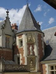 Château du Clos-Lucé - Manoir du Clos-Lucé, à Amboise (Indre-et-Loire, France), aile sud-ouest