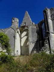 Ruines du château et de la collégiale des Roches-Tranchelion - Collégiale Sainte-Marie et Saint-Jean-Baptiste des Roches-Tranchelion en Avon-les-Roches (37). Intérieur du croisillon septentrional.