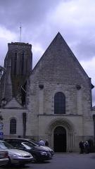 Eglise Saint-Germain - English: Entrance of the Church of Saint-Germain in Bourgueil