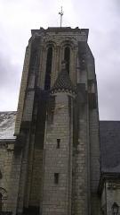 Eglise Saint-Germain - English: Tower of the Church of Saint-Germain in Bourgueil