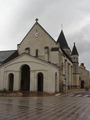 Eglise paroissiale Saint-Avant - Français:   La Celle-Saint-Avant (Indre-et-Loire) Église, façade