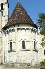 Eglise paroissiale Saint-Médard - Français:   Abside romane de l\'église St Médard de Chaumussay