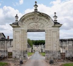 Ancienne chartreuse du Liget - Deutsch: In der Nähe der Ortschaft Montrésor im Département Indre-et-Loire/Frankreich liegt das Kartäuser-Kloster Le Liget - Wirtschaftsgebäude