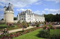 Domaine de Chenonceau - Français:   Vue du château de Chenonceau (Indre-et-Loire, France), depuis les jardins de Catherine de Médicis.