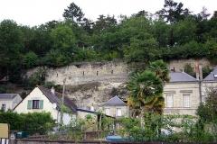 Ancien château - Français:   Mur de l\'ancien château de Cinq-Mars-la-Pile.