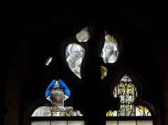 Eglise Saint-Maurice - Français:   Église Saint-Maurice de Crissay-sur-Manse (37). Vitrail de la costale est du collatéral nord. XVIème siècle.