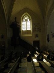 Eglise Saint-Maurice - Français:   Église Saint-Maurice de Crissay-sur-Manse (37). Chaire.