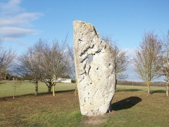Menhir dit Pierre Percée ou des Arabes - Français:   Monument mégalithique situé à Draché (France)