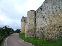 Château du Grand Pressigny - Français:   Vue d\'ensemble du front sud du château du Grand-Pressigny, Indre-et-Loire, Centre, France.