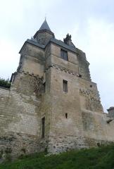 Château du Grand Pressigny - Vue d'ensemble de la tour de Savoie et de son pavillon. Château du Grand-Pressigny, Indre-et-Loire, Centre, France.