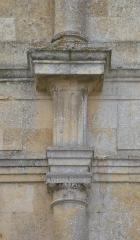 Château du Grand Pressigny - Détail du décor Classique de la façade nord de la galerie du château du Grand-Pressigny, Indre-et-Loire, Centre, France.