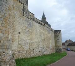 Château du Grand Pressigny - Français:   Courtine sud du château du Grand-Pressigny, Indre-et-Loire, Centre, France.