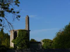 Ruines du château - Français:   Tour avec cheminée