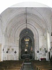 Eglise paroissiale Saint-Maurice ainsi que le passage couvert qui relie l'église au logis dit du Doyenné et le jardin de l'ancien presbytère situé au lieu-dit le Bourg - Deutsch: Huimes,_Kirche_Saint-Maurice_innen
