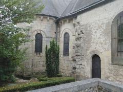 Eglise paroissiale Saint-Jean-Baptiste - Vue extérieure du prolongement de la nef de l'église Saint-Jean-Baptiste de Langeais.