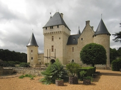 Château du Rivau -  Former medieval Castle Le Rivau near the Loire river in France