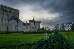 Château et son enceinte - English: View of the Castle of Loches