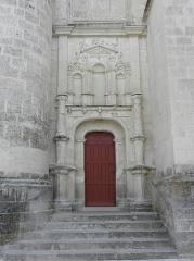 Eglise paroissiale Saint-Jean-Baptiste - Porte méridionale de la collégiale Saint-Jean-Baptiste de Montrésor (37).