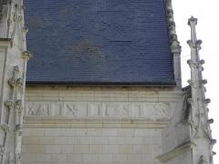 Eglise paroissiale Saint-Jean-Baptiste - Frise de la chapelle sud de la collégiale Saint-Jean-Baptiste de Montrésor (37).