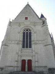 Eglise paroissiale Saint-Jean-Baptiste - Français:   Façade occidentale de la collégiale Saint-Jean-Baptiste de Montrésor (37).