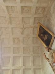 Eglise paroissiale Saint-Jean-Baptiste - Français:   Voûte à caissons de l\'oratoire sud de la collégiale Saint-Jean-Baptiste de Montrésor (37).
