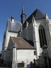 Eglise paroissiale Saint-Jean-Baptiste - Français:   Chevet de la collégiale Saint-Jean-Baptiste de Montrésor (37).