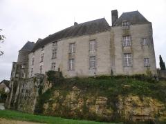 Château du Châtelier - Français:   La façade ouest du logis du château du Châtelier, commune de Paulmy, Indre-et-Loire, Centre, France.