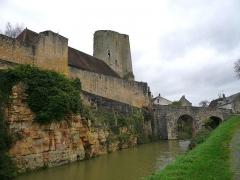 Château du Châtelier - Français:   Le front Est et le pont d\'accès du château du Châtelier, commune de Paulmy, Indre-et-Loire, Centre, France.