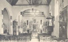 Eglise paroissiale Saint-Christophe -  Intérieur de l\'église - Saint-Christophe sur le Nais (Indre et Loire, France)