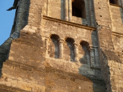Ancienne abbaye de Saint-Martin - English: Detail of the Tower of Charlemagne of the Romanesque basilica of St Martin, Tours, France, which was demolished in 1798