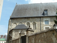 Ancien archevêché, actuellement musée des Beaux-Arts - English: Archbishop's Palace of Tours. Romanesque wing. West facade.
