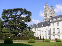Ancien archevêché, actuellement musée des Beaux-Arts - Français:   Vu du jardin (n7).