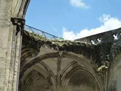 Cloître Saint-Gatien dit La Psalette - Cloître de la Psalette (XVe et XVIe siècles). Galerie est. Voûte effondrée.
