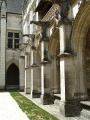 Cloître Saint-Gatien dit La Psalette - Cloître de la Psalette (XVe et XVIe siècles). Galerie ouest et angle nord-ouest.