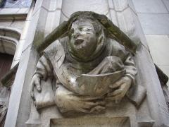 Eglise Saint-Saturnin (ancienne église des Carmes) - Français:   Église Saint-Saturnin de Tours (Indre-et-Loire, France), détail du cul-de-lampe à droite du portail