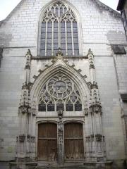 Eglise Saint-Saturnin (ancienne église des Carmes) - Français:   Église Saint-Saturnin de Tours (Indre-et-Loire, France), façade
